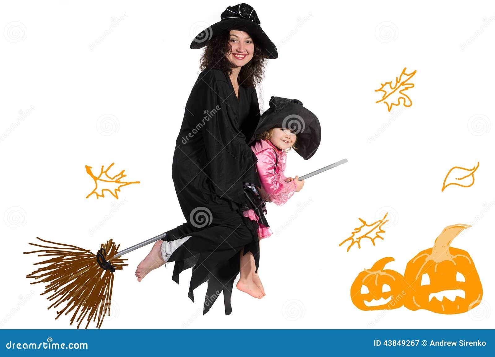 母亲和女儿万圣夜服装的
