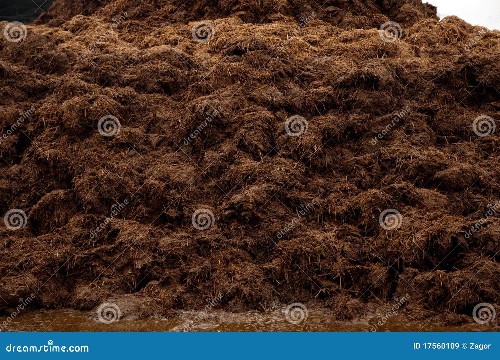 母牛堆肥料