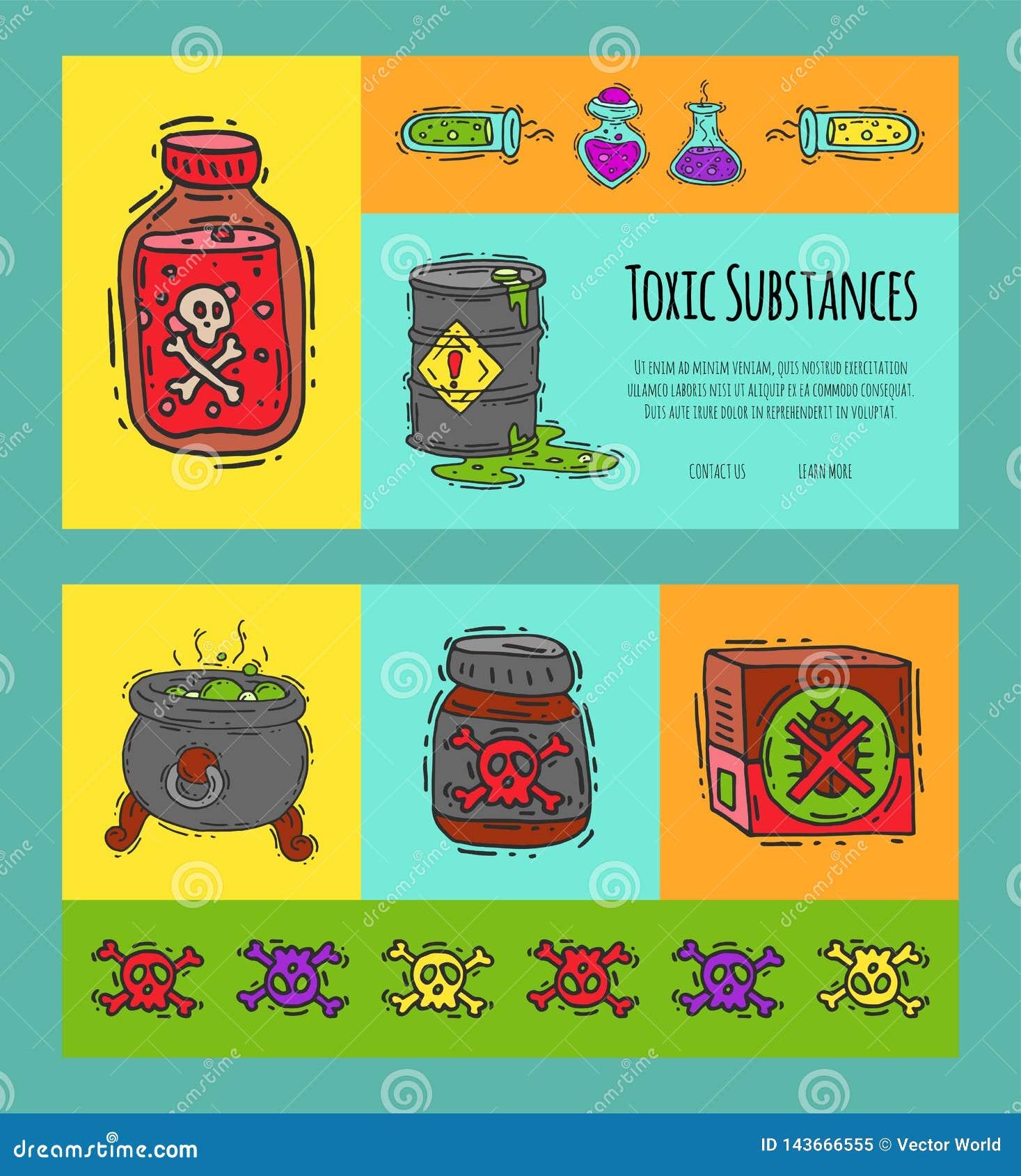毒性产业概念横幅传染媒介例证 液体的另外桶上油,生物燃料,易爆,化工