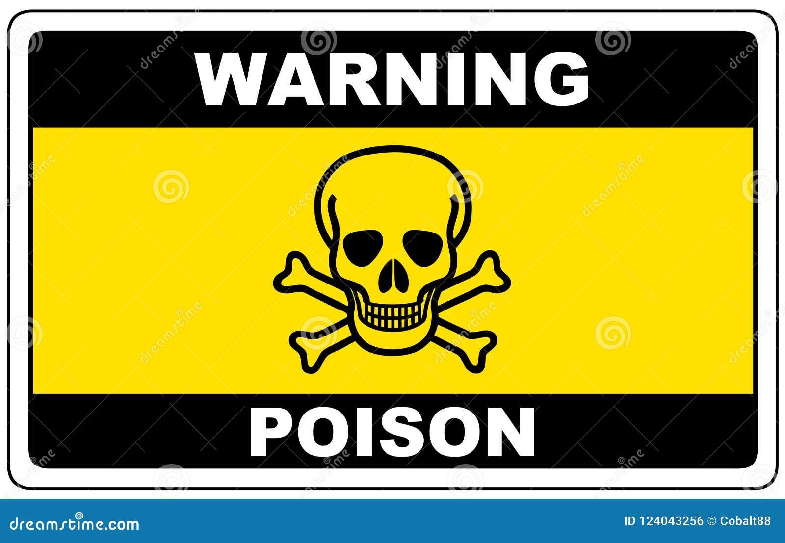 毒物,危险标志警告