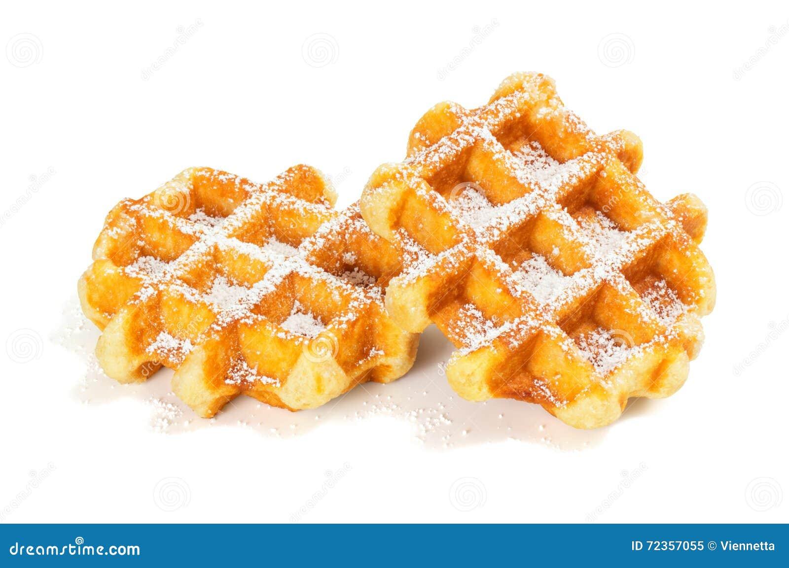 比利时华夫饼干用搽粉的糖