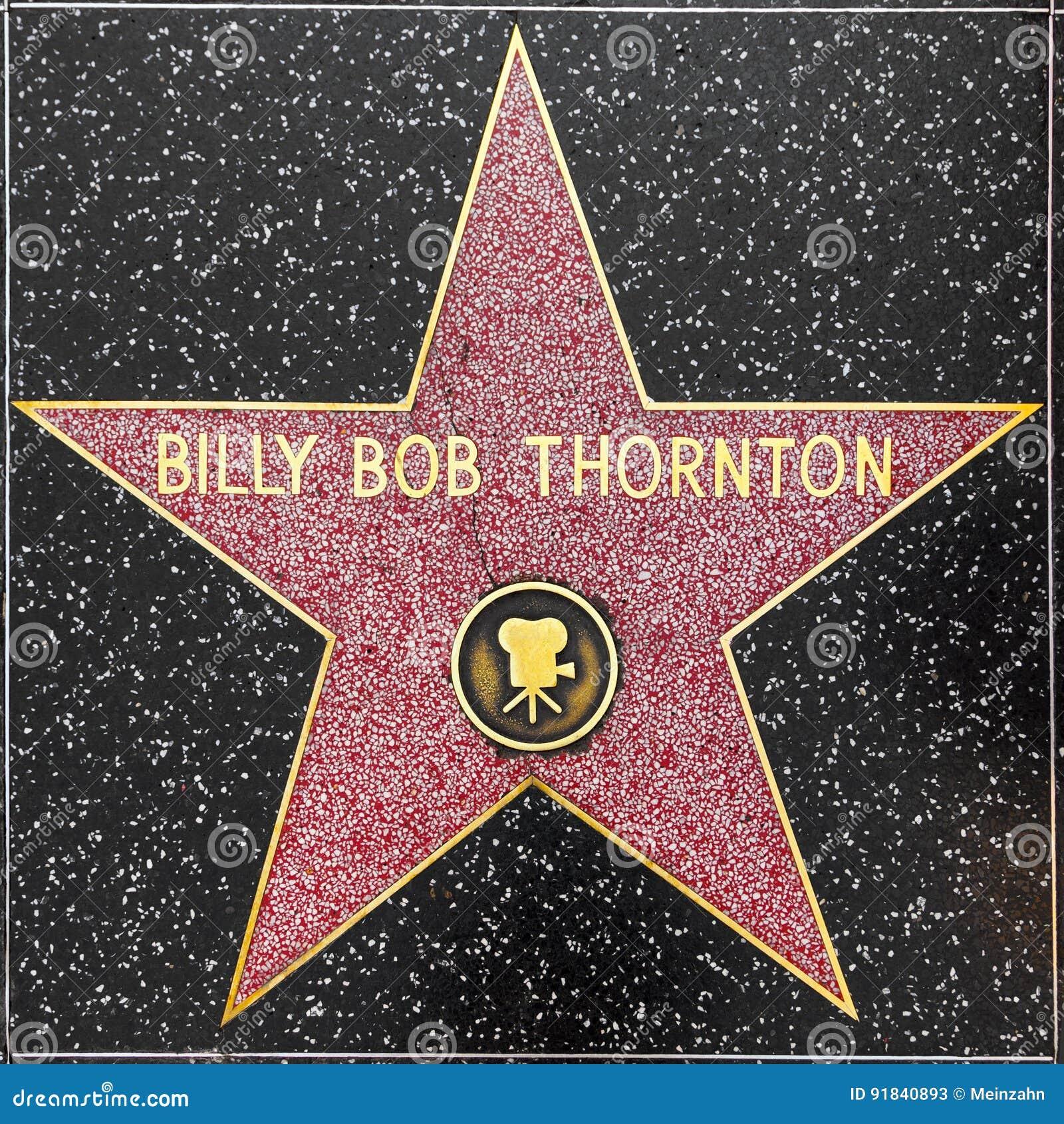 比利突然移动在好莱坞星光大道的thorntons星