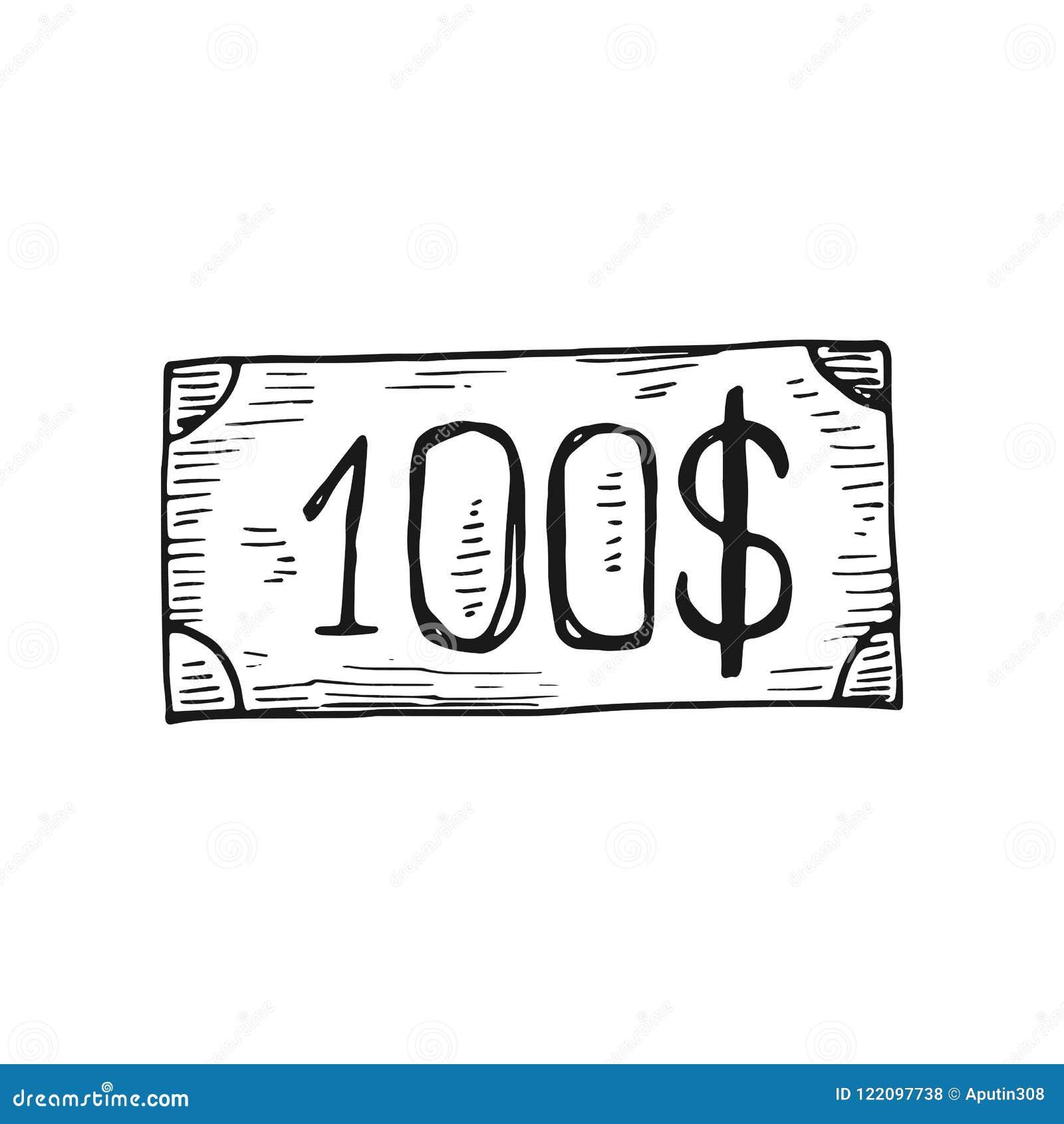 比尔一百美元象 背景查出的白色