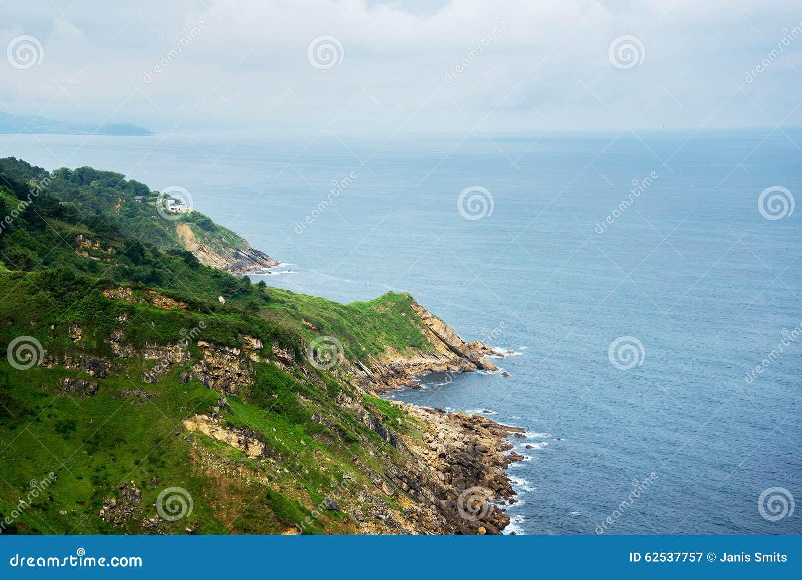 比斯开湾海湾海岸,西班牙