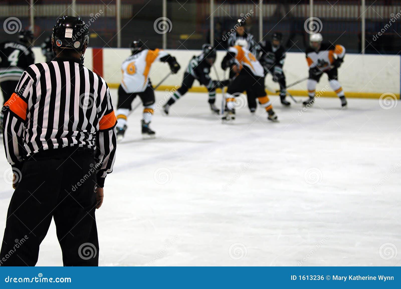 比赛曲棍球冰