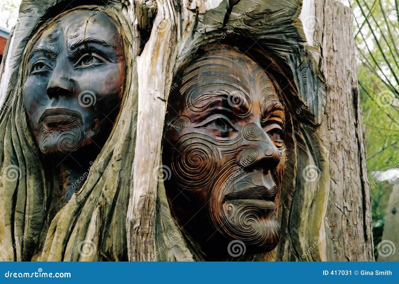 毛利人的雕刻