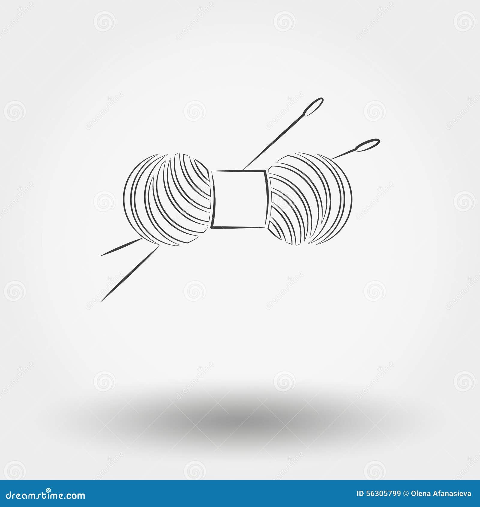 毛线丝球编织和针的