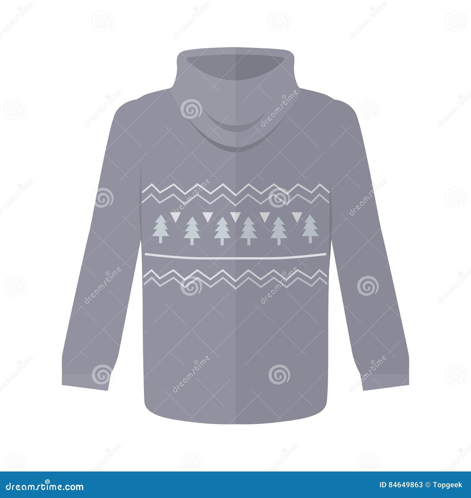 毛线衣或套头衫与被隔绝的杉树象