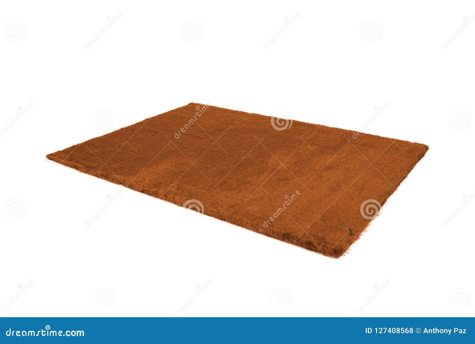 毛茸的地毯 查出在白色