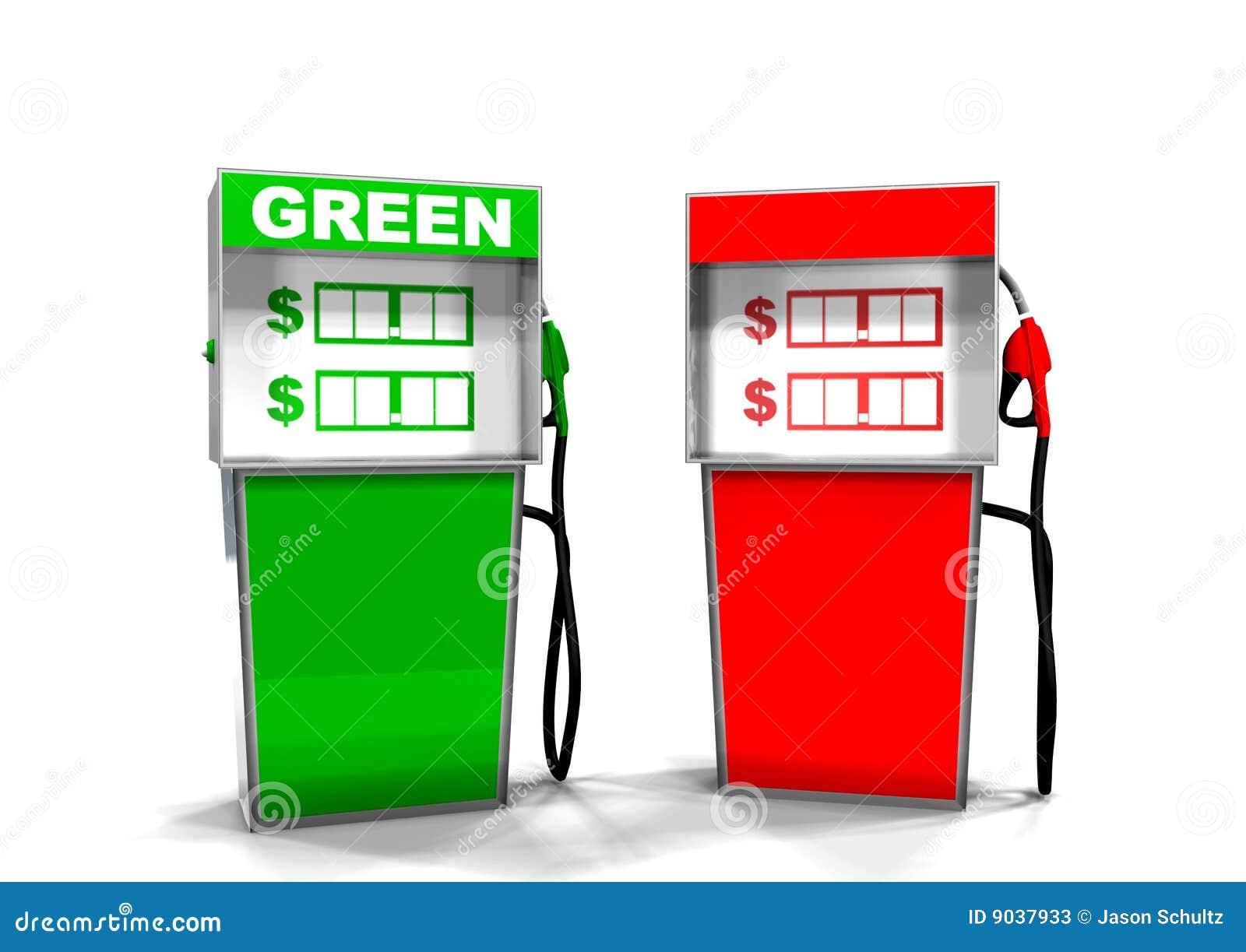 气体绿色泵红色