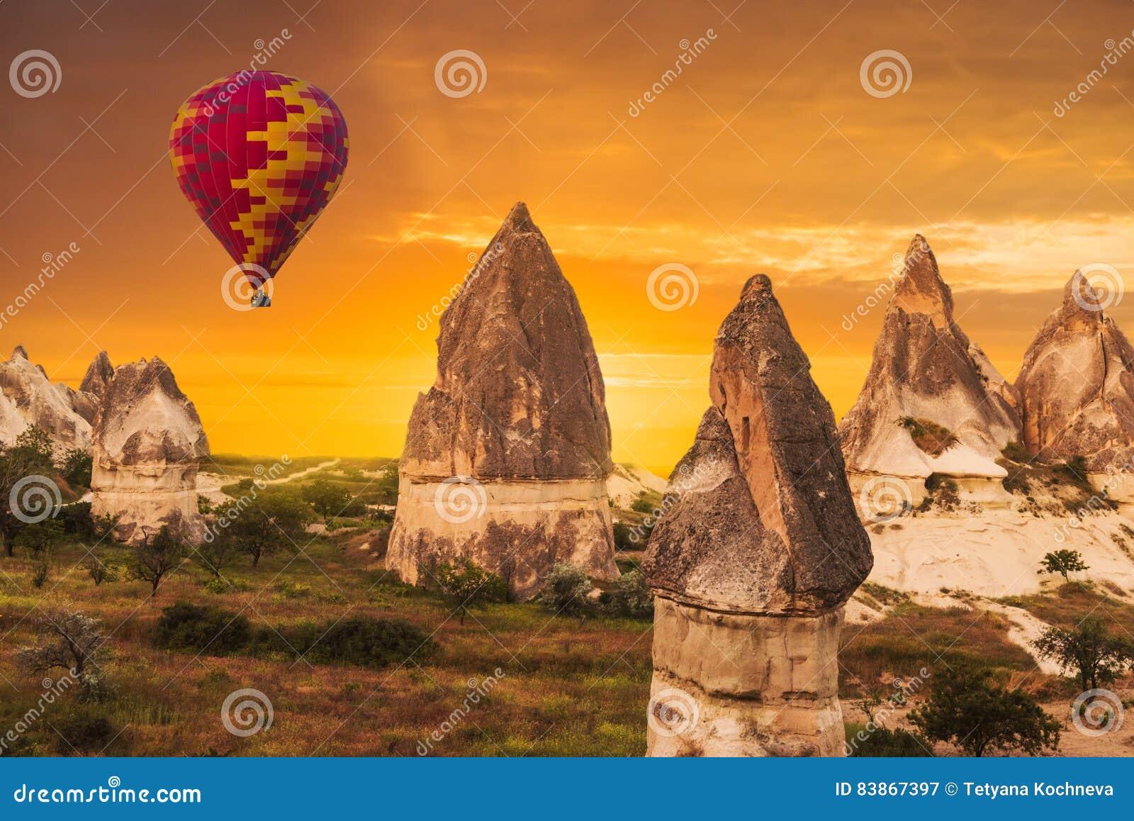 气球在卡帕多细亚,土耳其