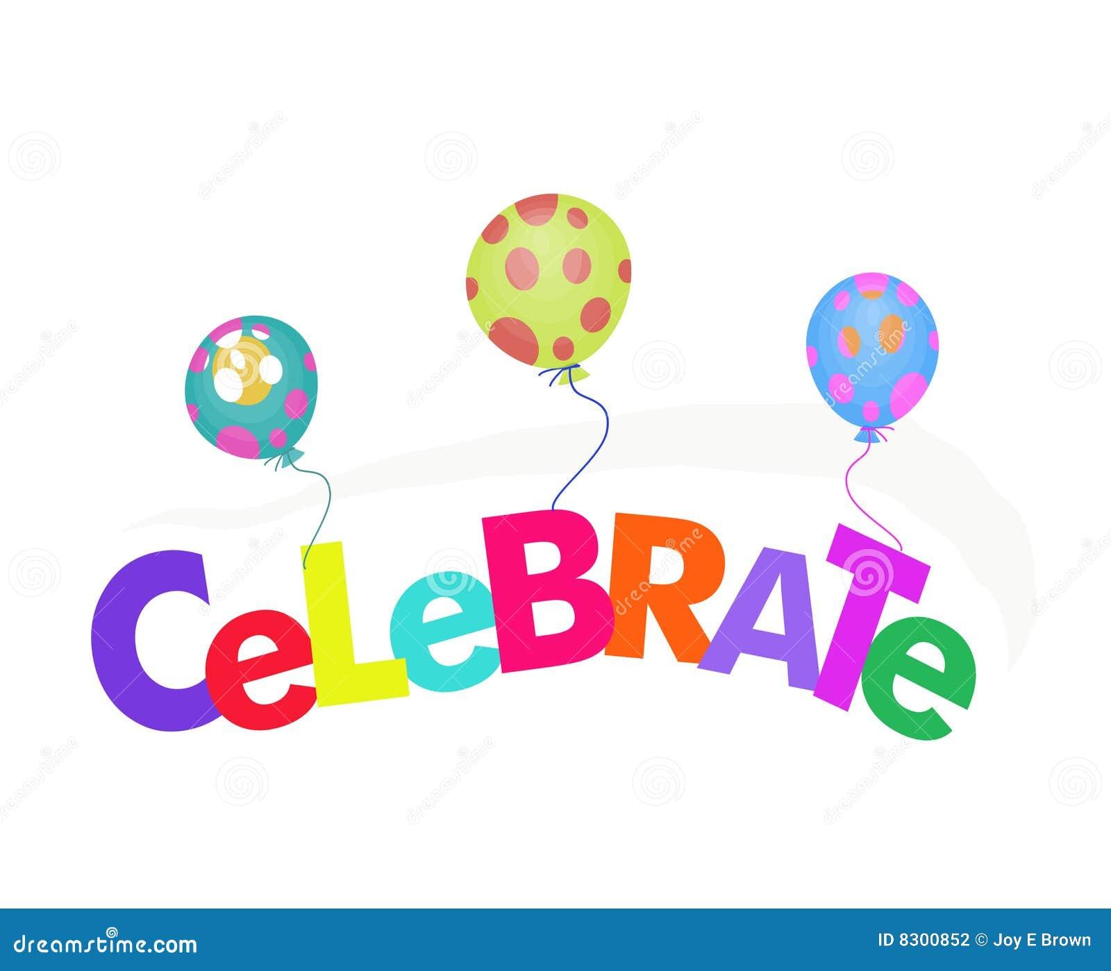 气球庆祝例证字