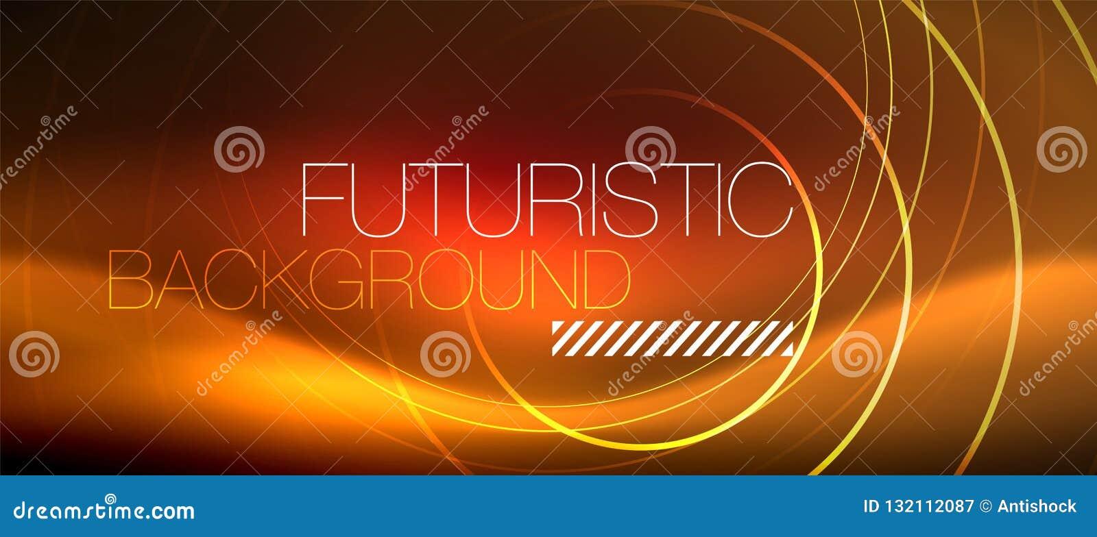 氖发光的techno排行,与方形的形状的高科技未来派抽象背景模板