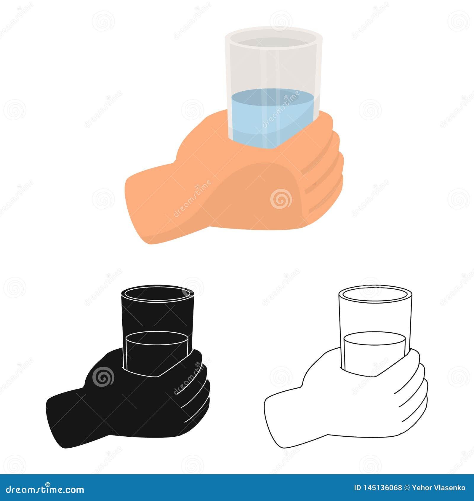 水和饮料标志传染媒介设计  设置水和玻璃储蓄传染媒介例证