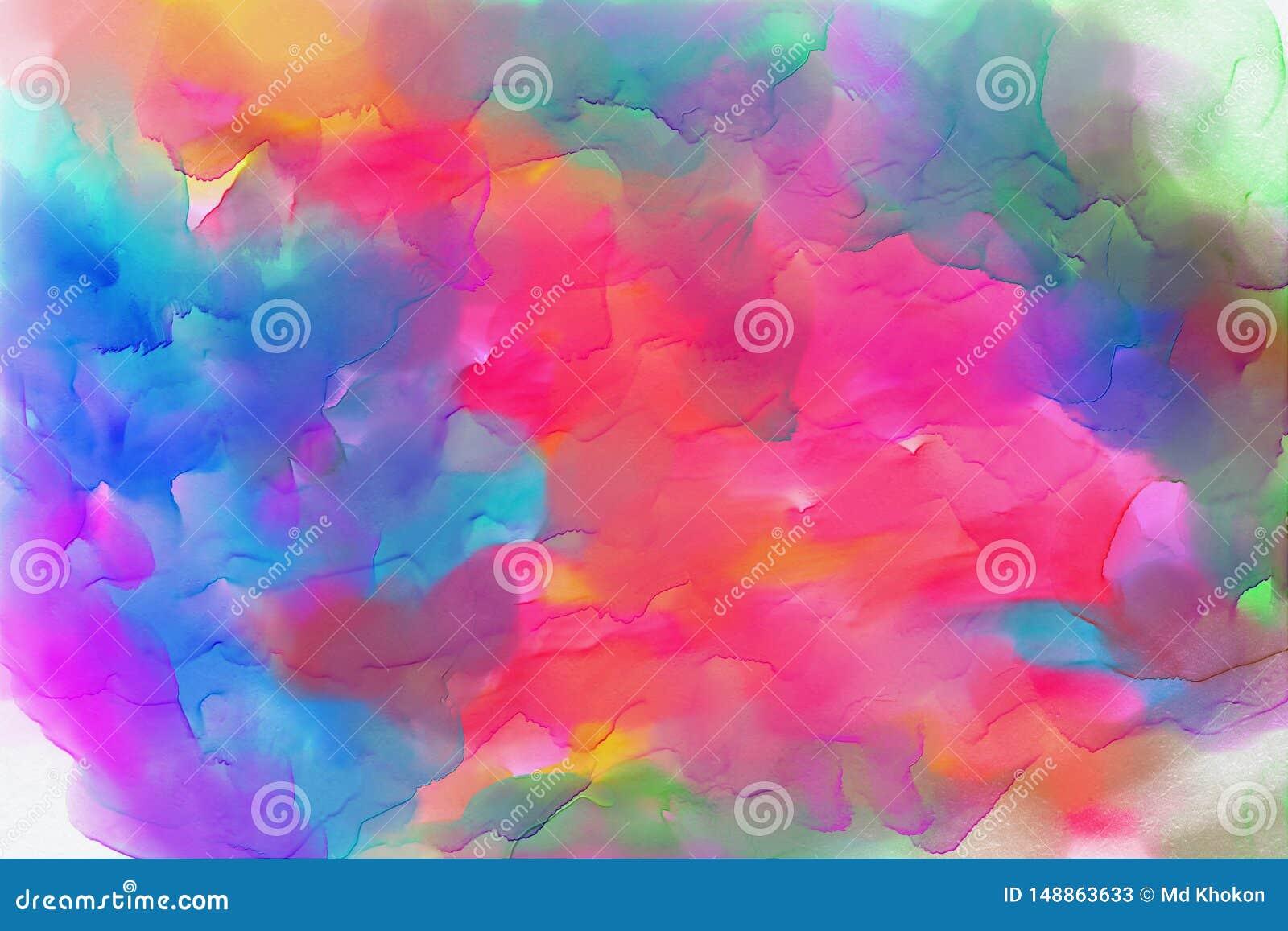 水彩背景,五颜六色的织地不很细背景影像