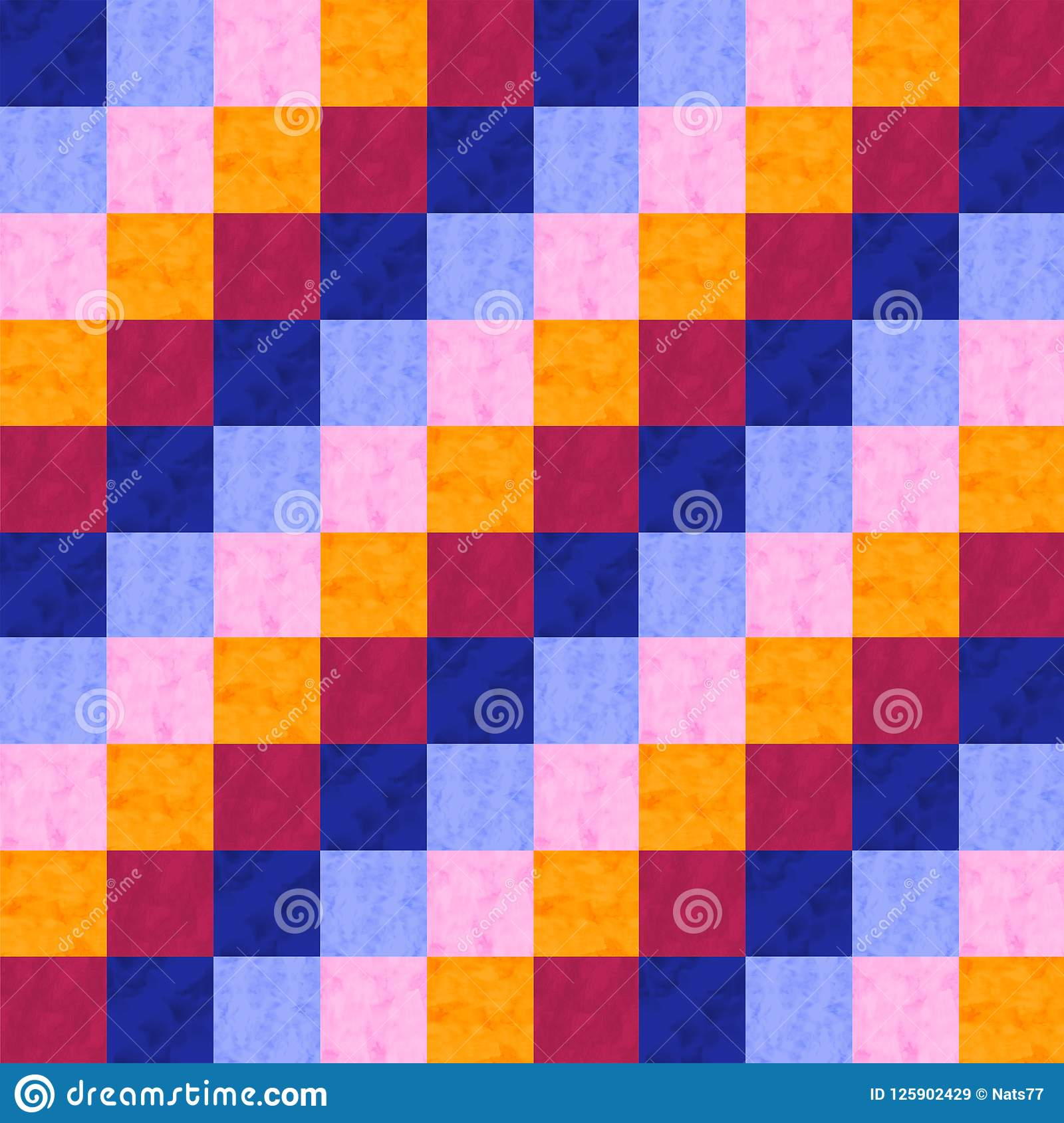 水彩补缀品种族无缝的样式 在水彩样式的几何装饰品