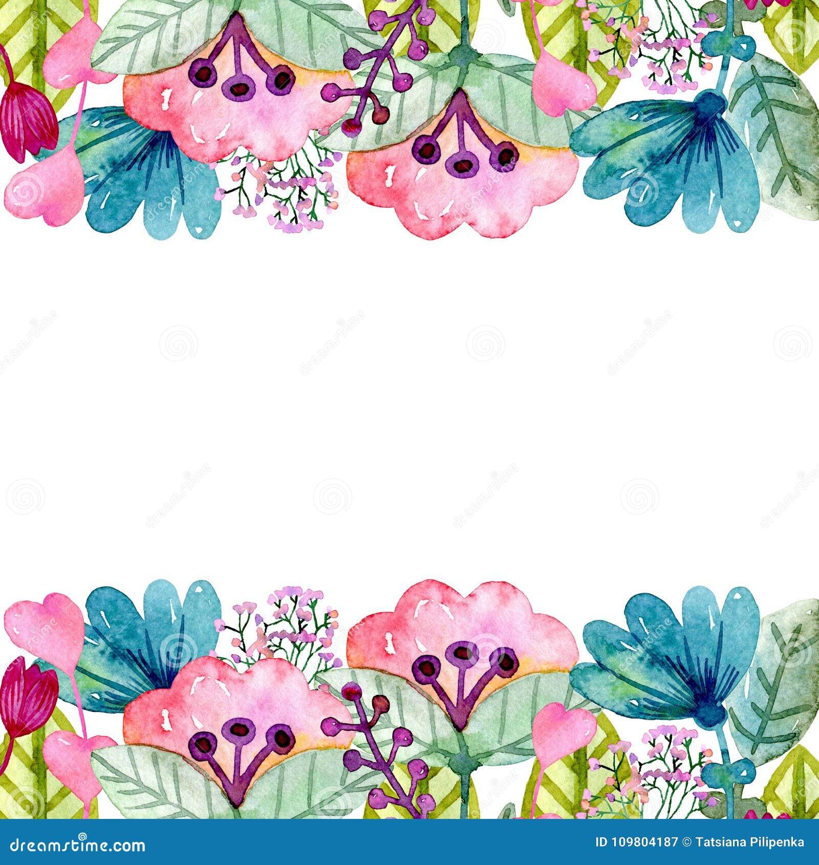 水彩逗人喜爱的花