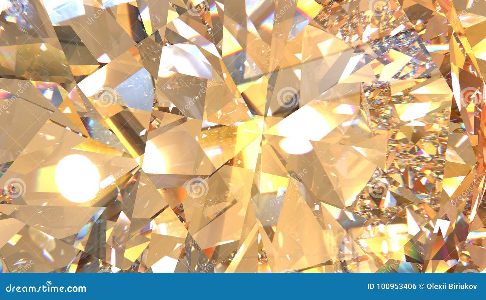 水晶折射背景