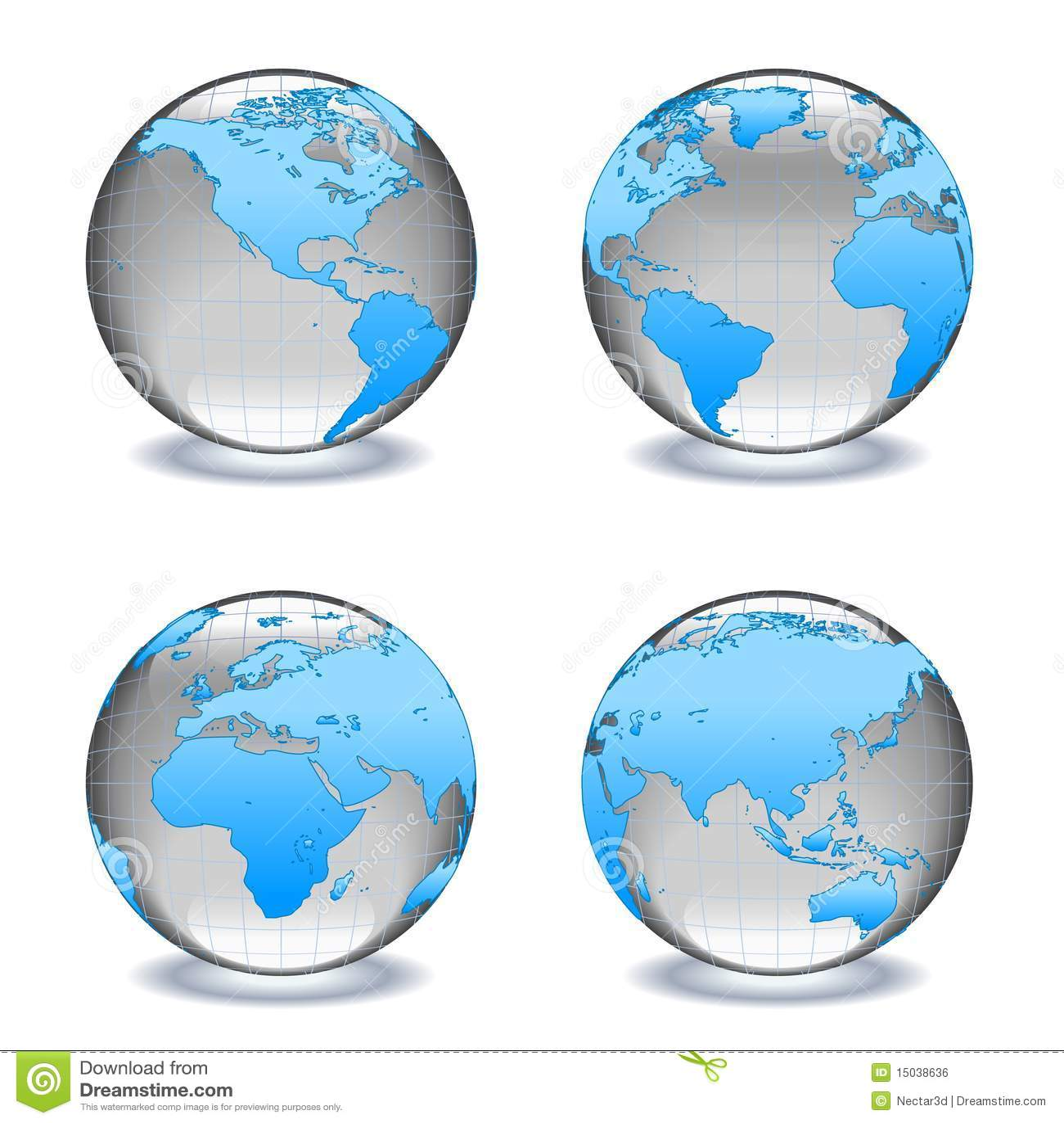 水晶玻璃地球世界