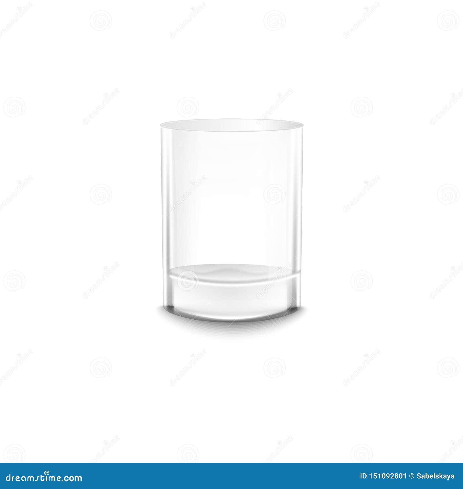 水晶空的水或酒精玻璃现实传染媒介大模型例证隔绝了