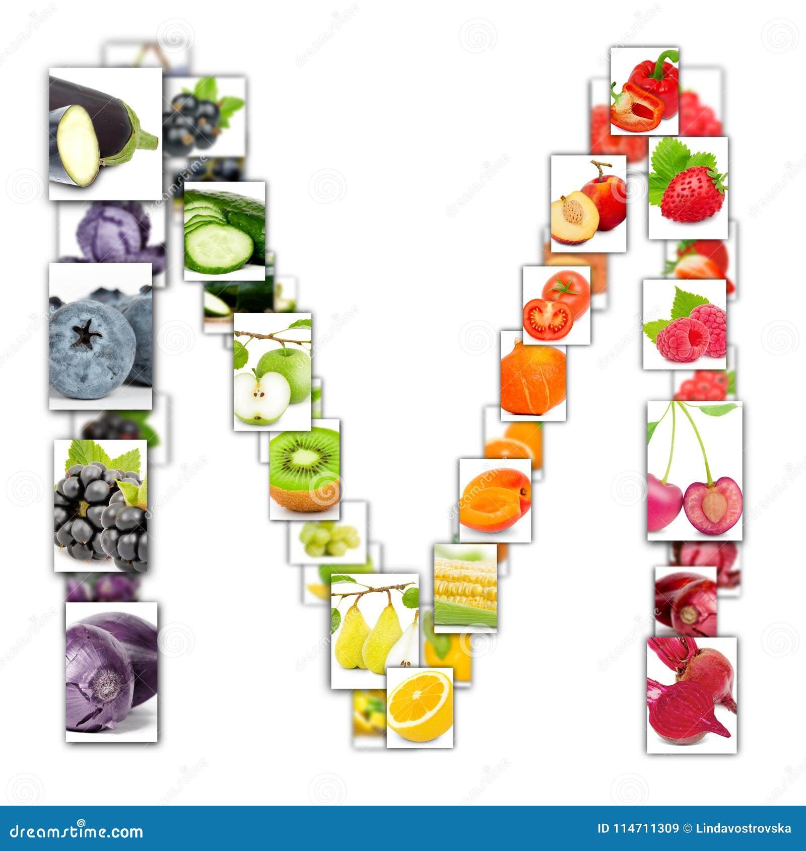 水果和蔬菜信件