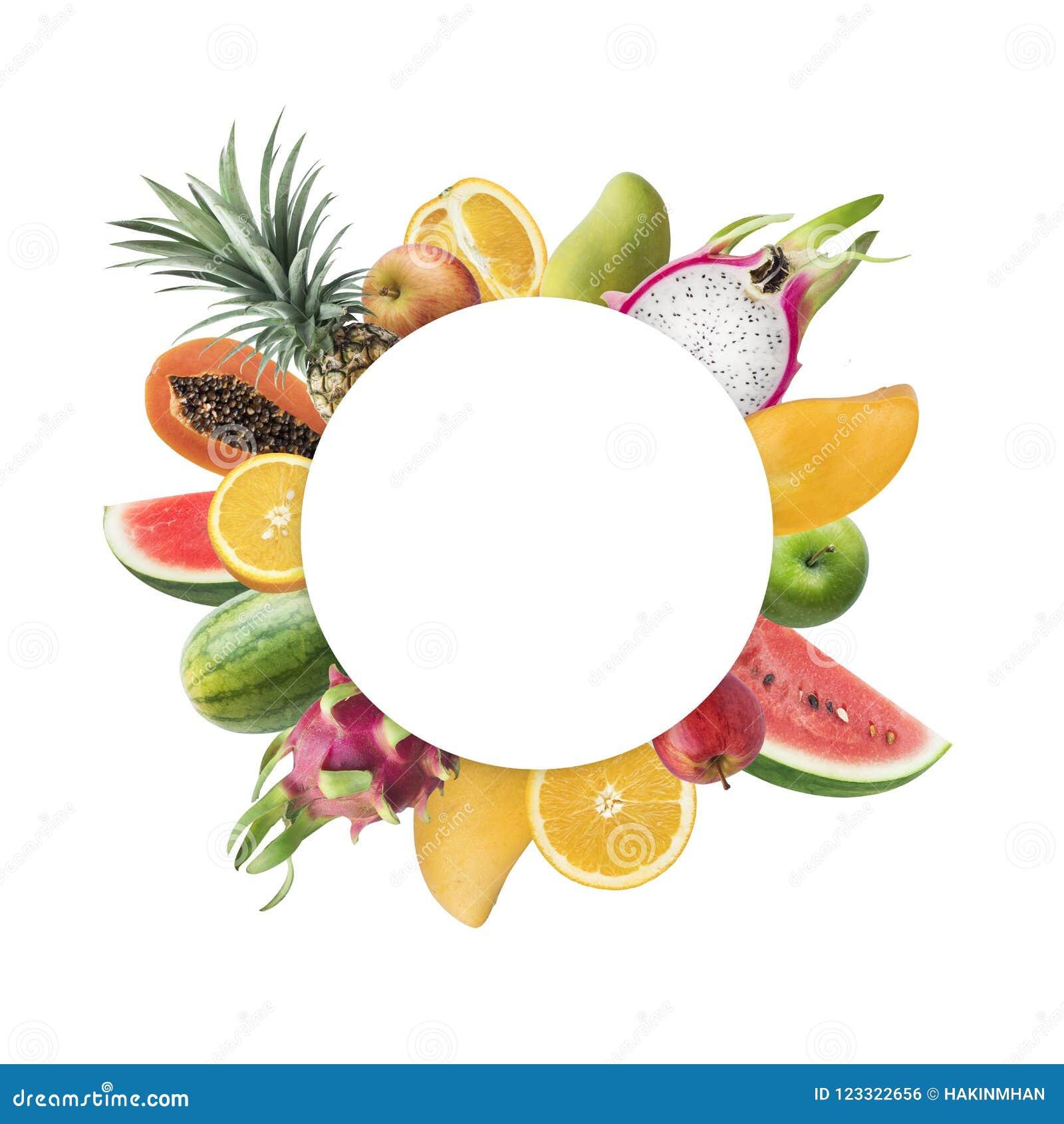 水果市场节日与白色拷贝空间的概念想法