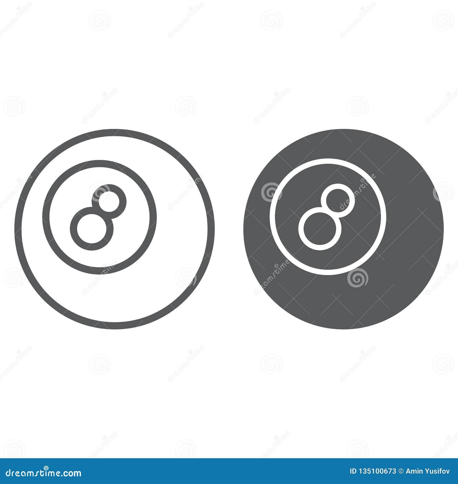 水池球线和纵的沟纹象、比赛和体育,球标志,向量图形,在白色背景的一个线性样式,