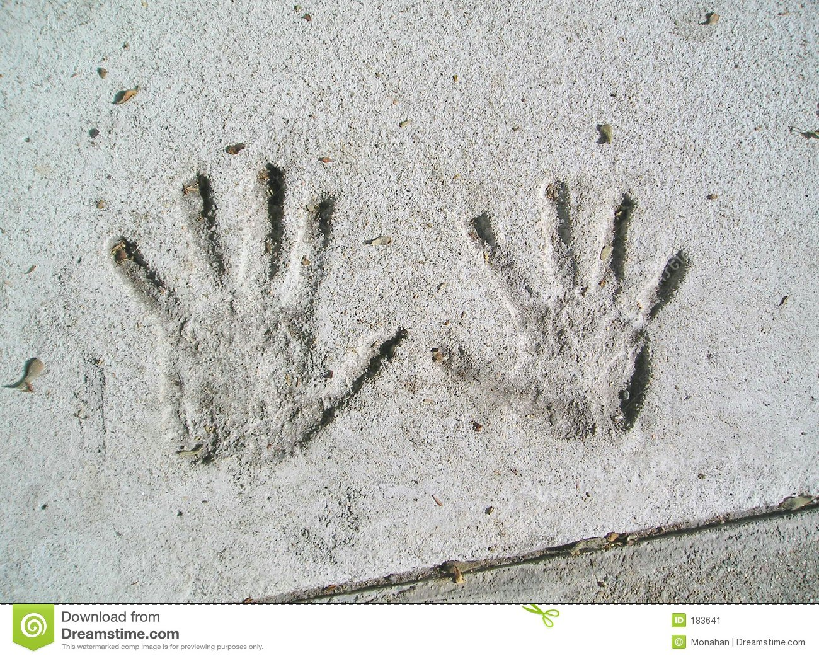 水泥handprints