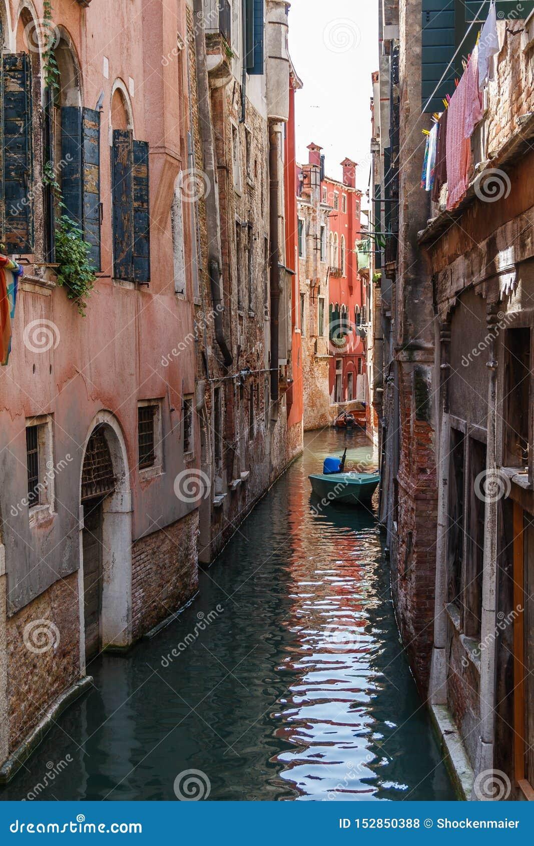 水路运河在威尼斯,意大利