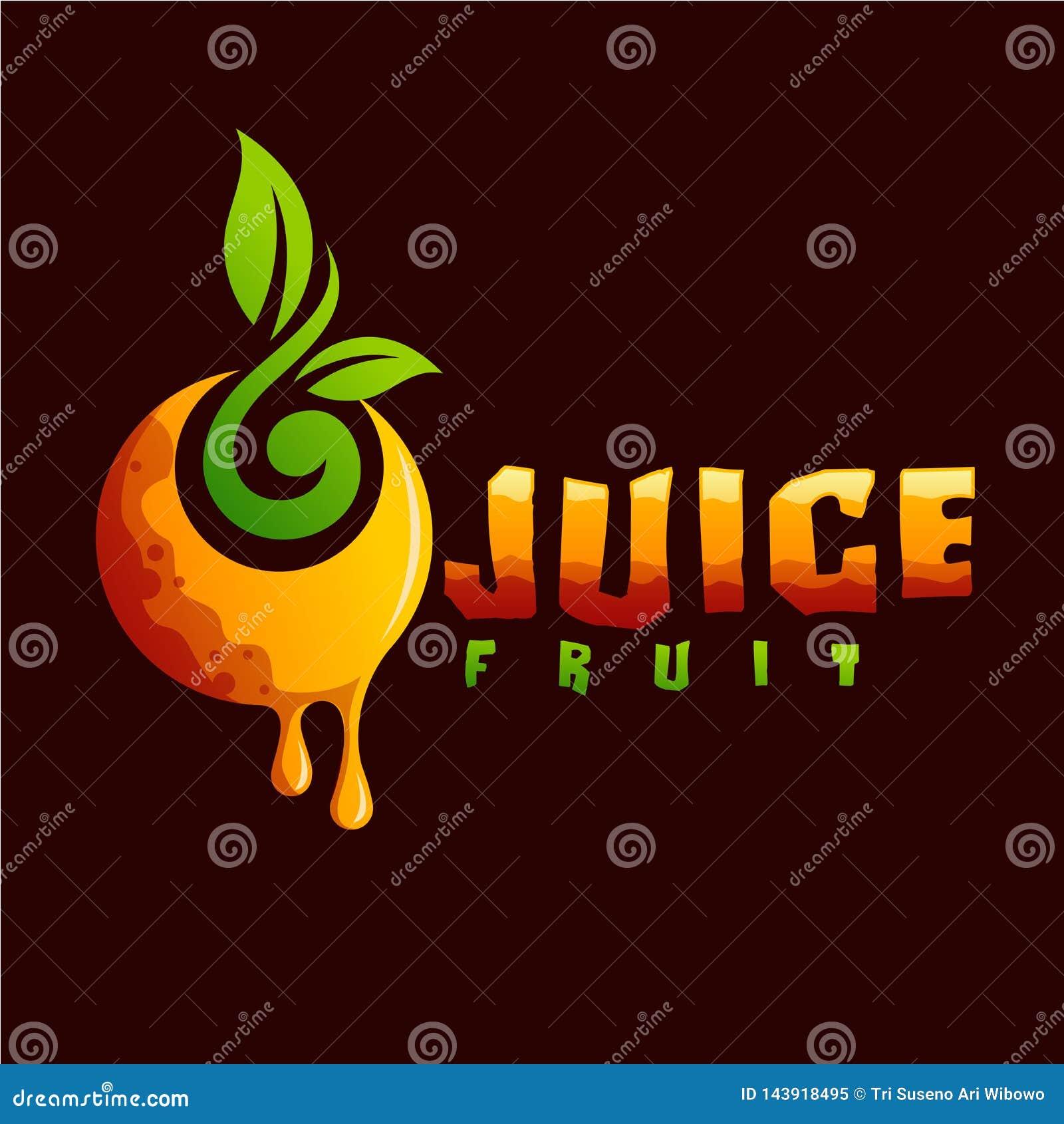 汁液立即可用果子的商标