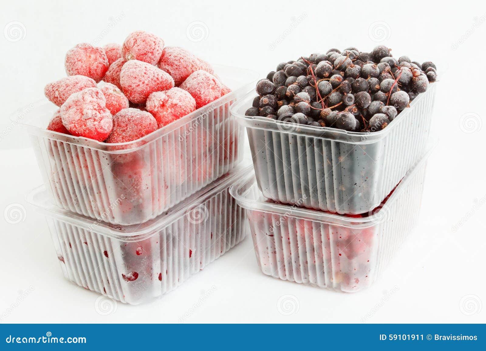 汇集结冰的莓果