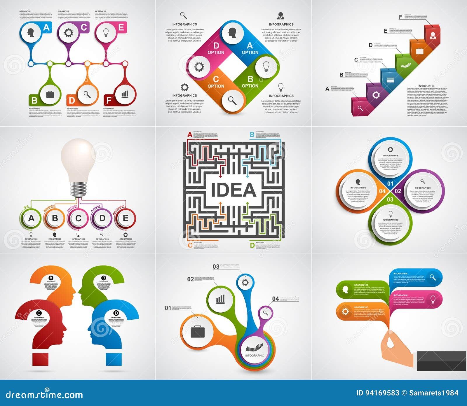 汇集infographics 背景设计要素空白四的雪花 企业介绍或信息横幅的Infographics