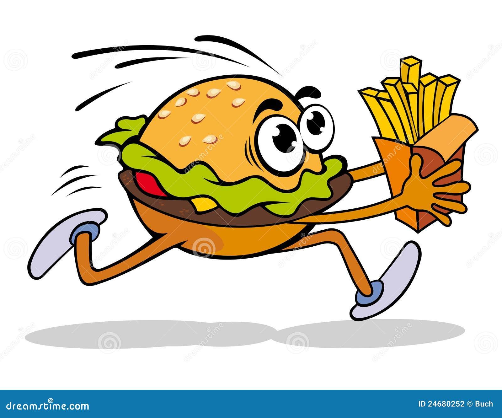 动画片快餐汉堡包例证土豆向量.图片