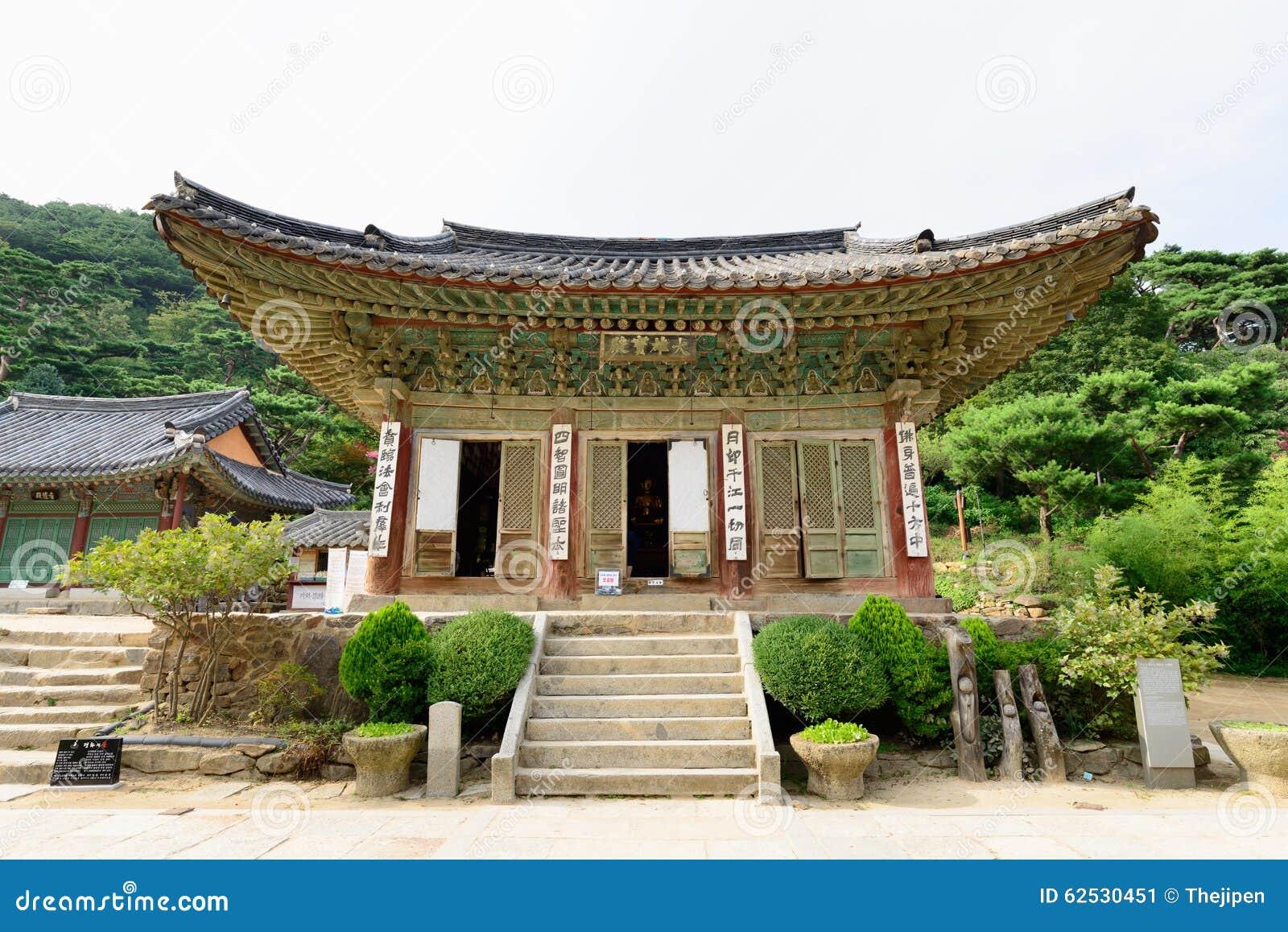 江华郡,韩国- 2015年8月17日:Daeungbojeon在Jeondeungsa