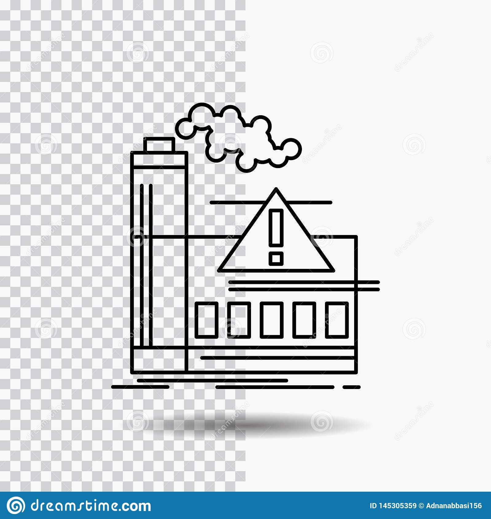 污染,工厂,空气,戒备,在透明背景的产业线象 r