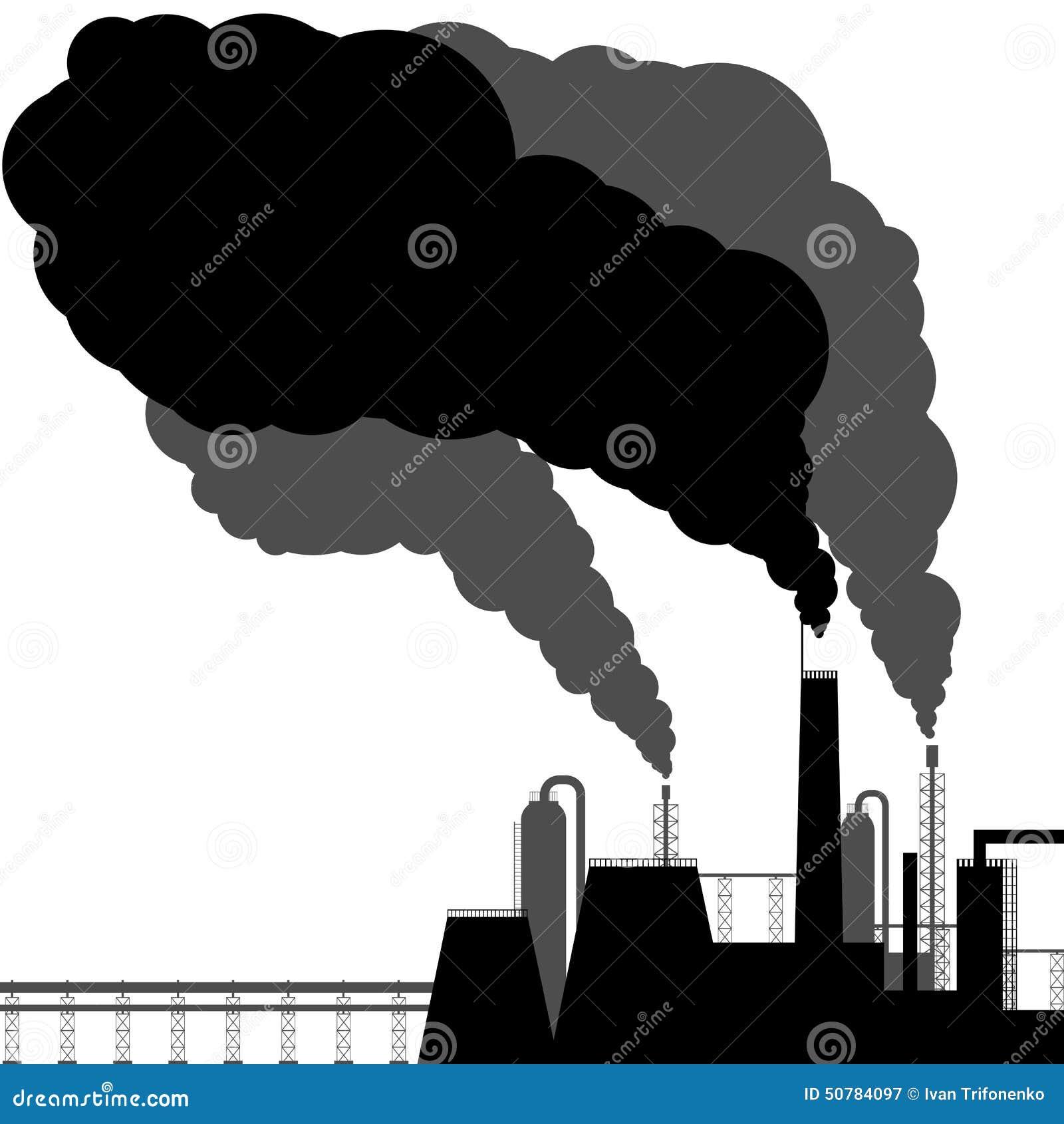 污染 黑色剪影