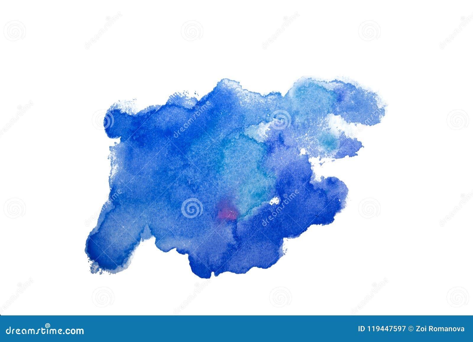 污点水彩飞溅背景 水彩的五颜六色的例证投下滴水和污点 蓝色粉红色 孤立