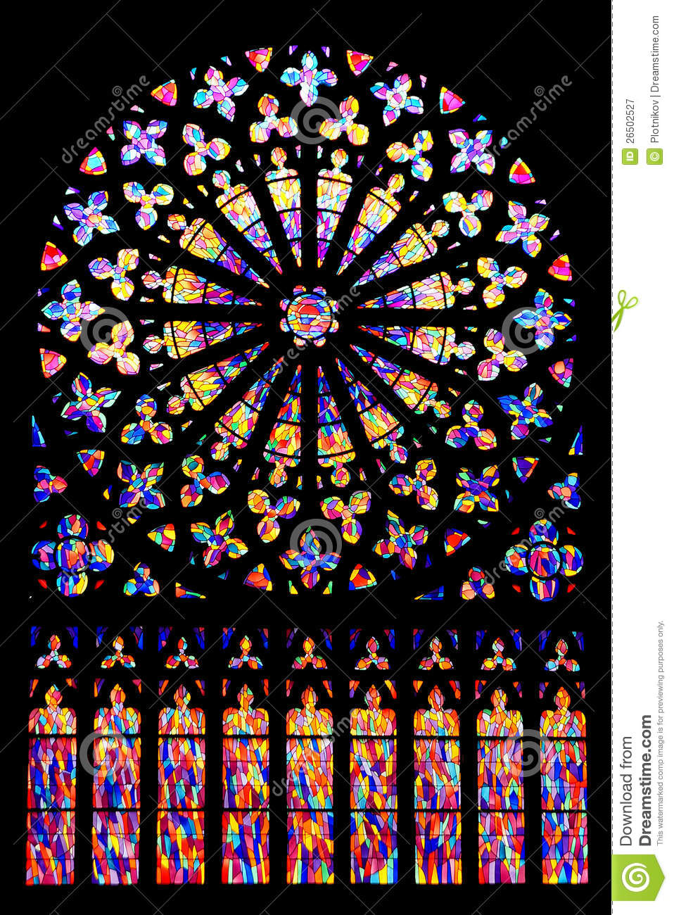 Beautiful Fragments Of Stained Glass