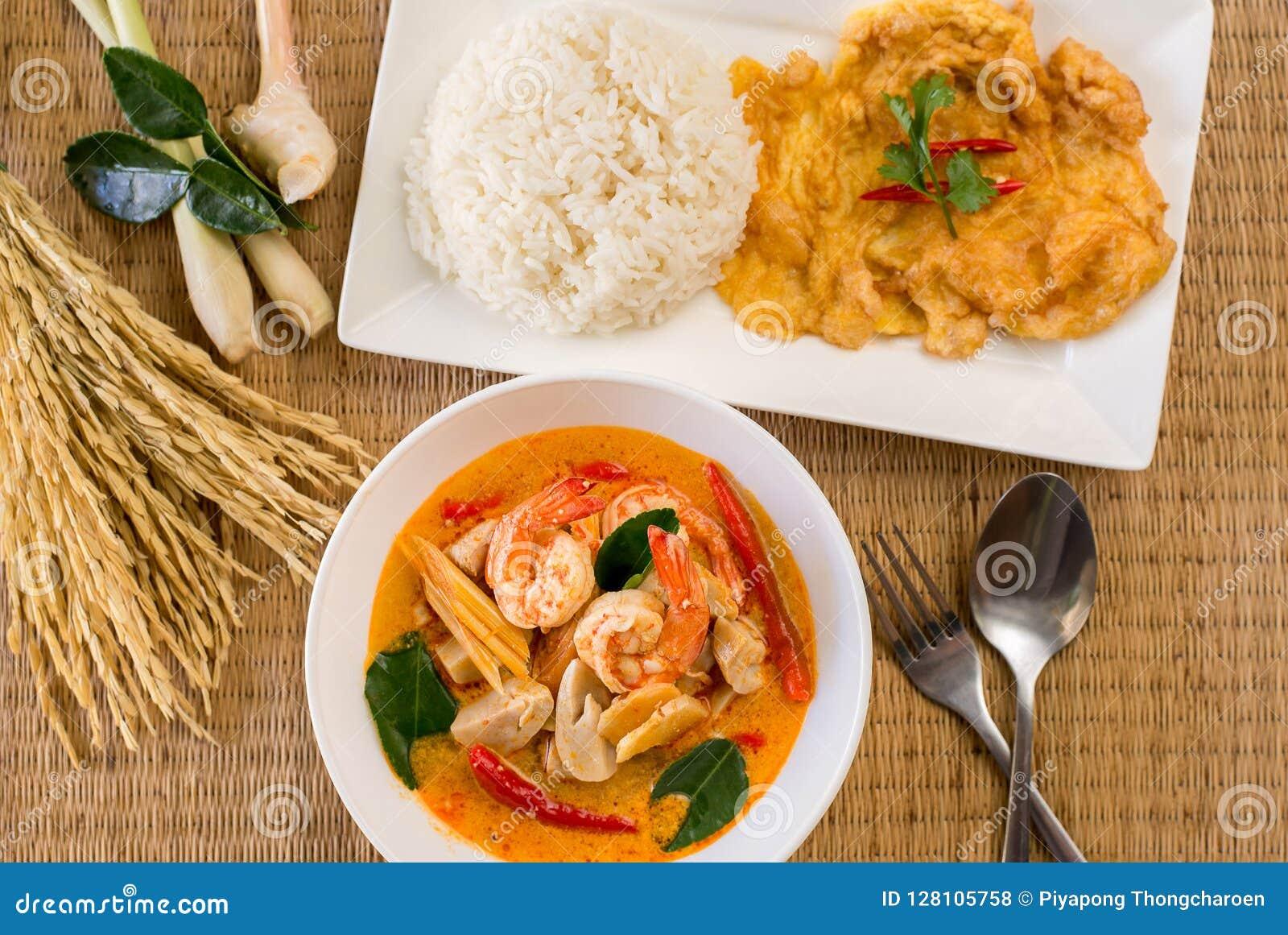 汤姆海鲜辣典型的泰国汤,可口泰国食物样式烹调
