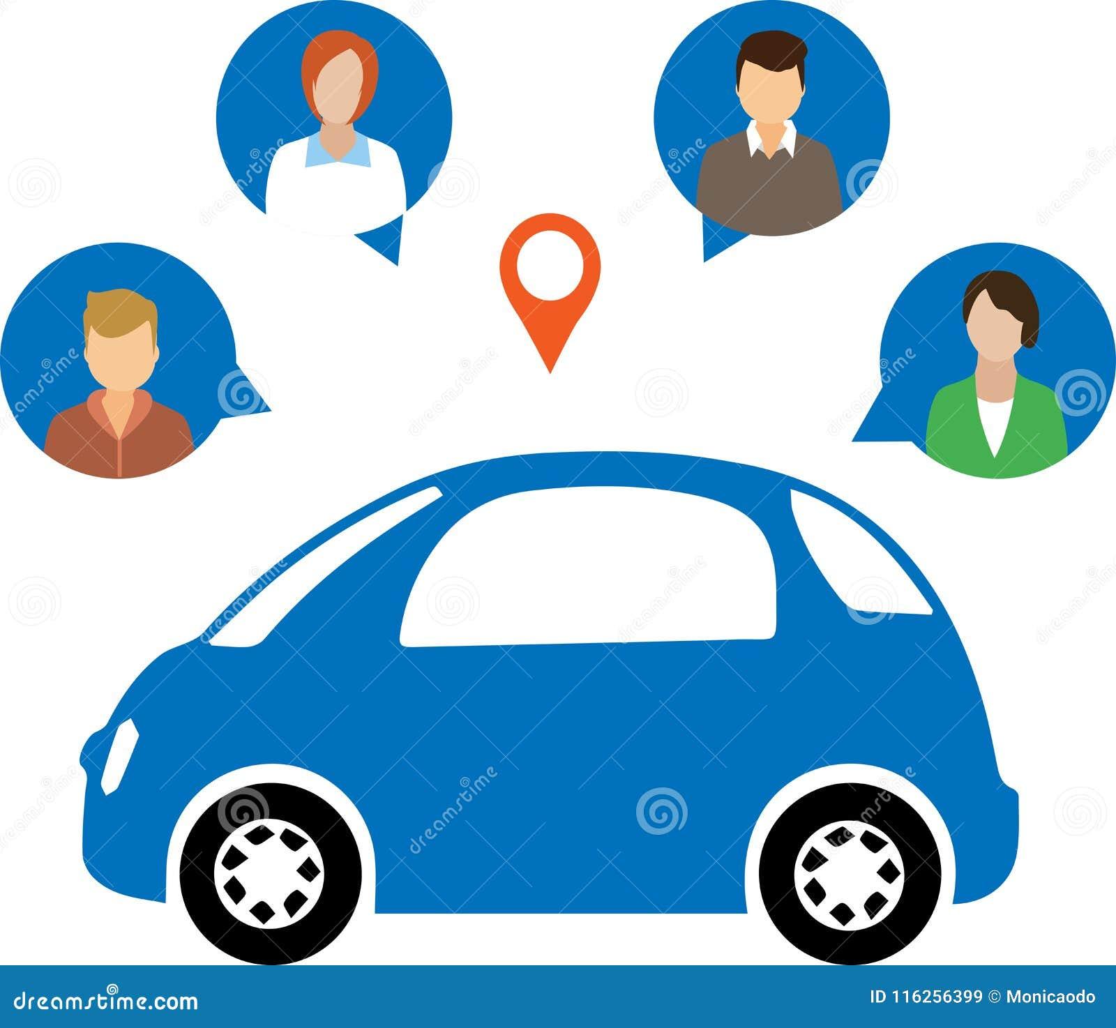 汽车分享概念