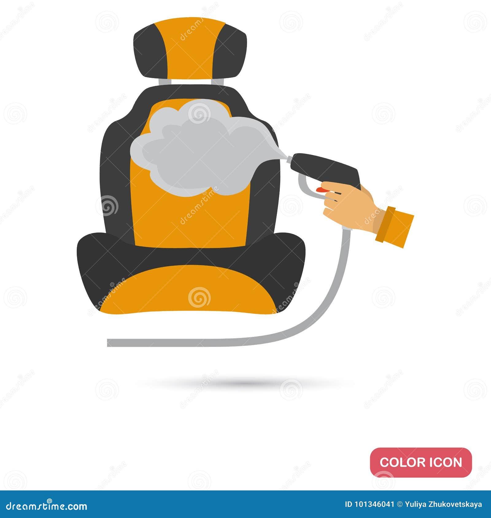 汽车座位清洁服务颜色平的象
