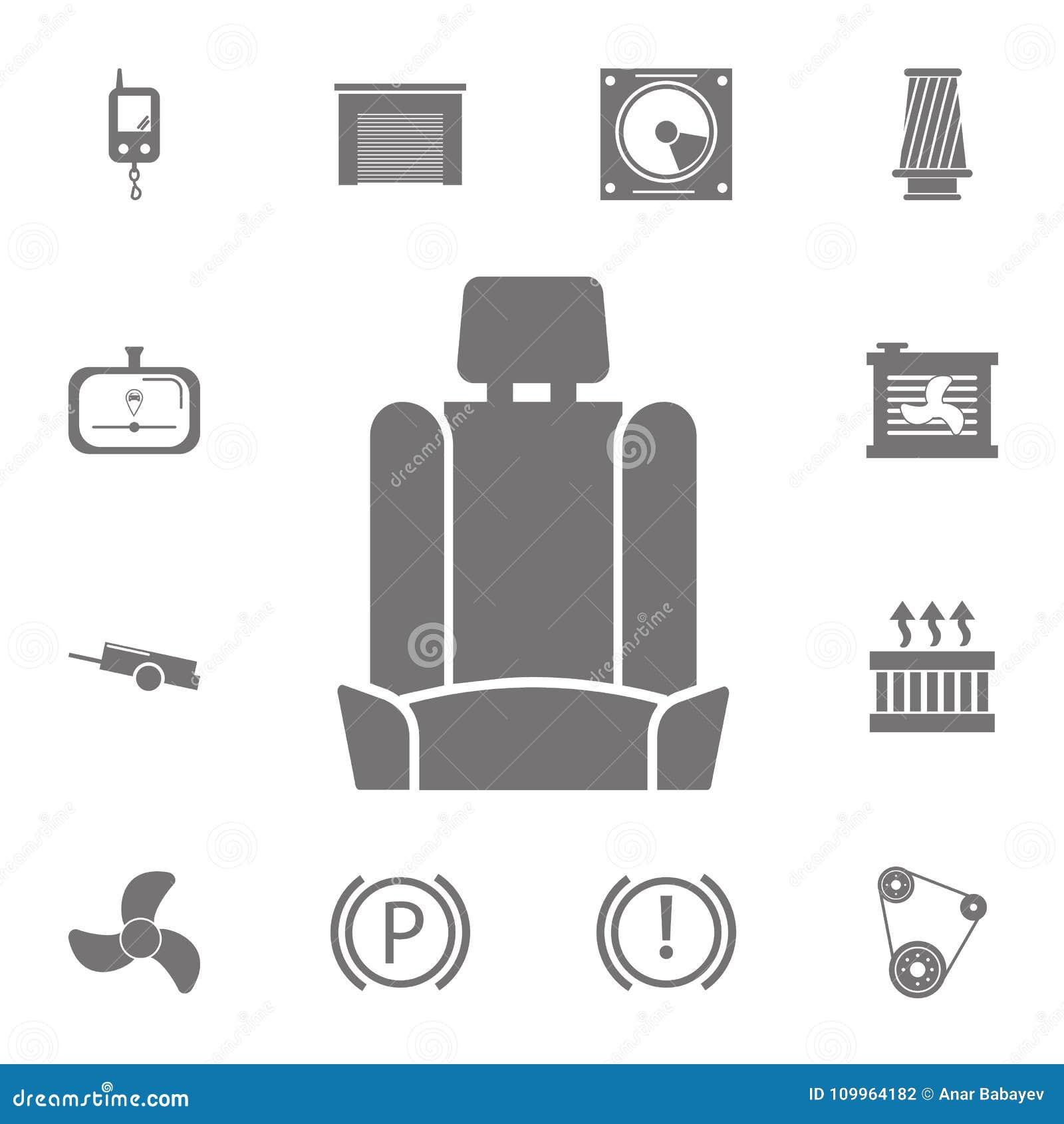 汽车座位象 套汽车修理象 汇集的标志,网站的,网络设计,流动app,信息图表简单的象