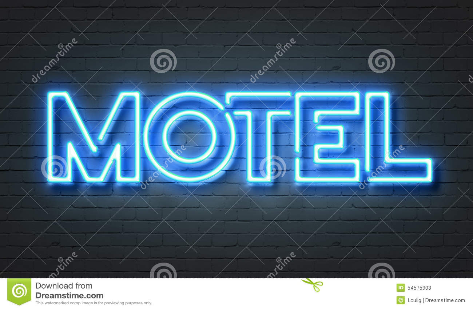 汽车旅馆霓虹灯广告