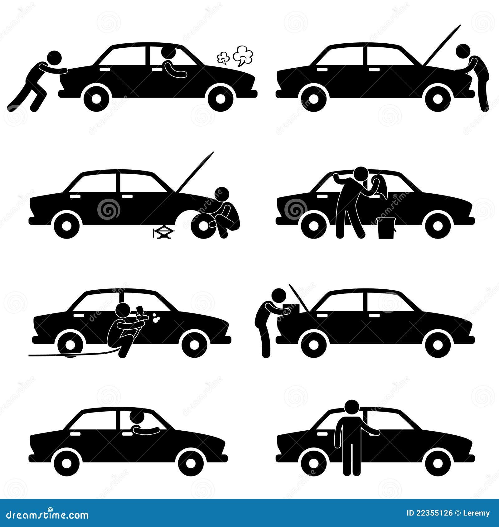 汽车检查解决图表维修服务轮胎洗涤