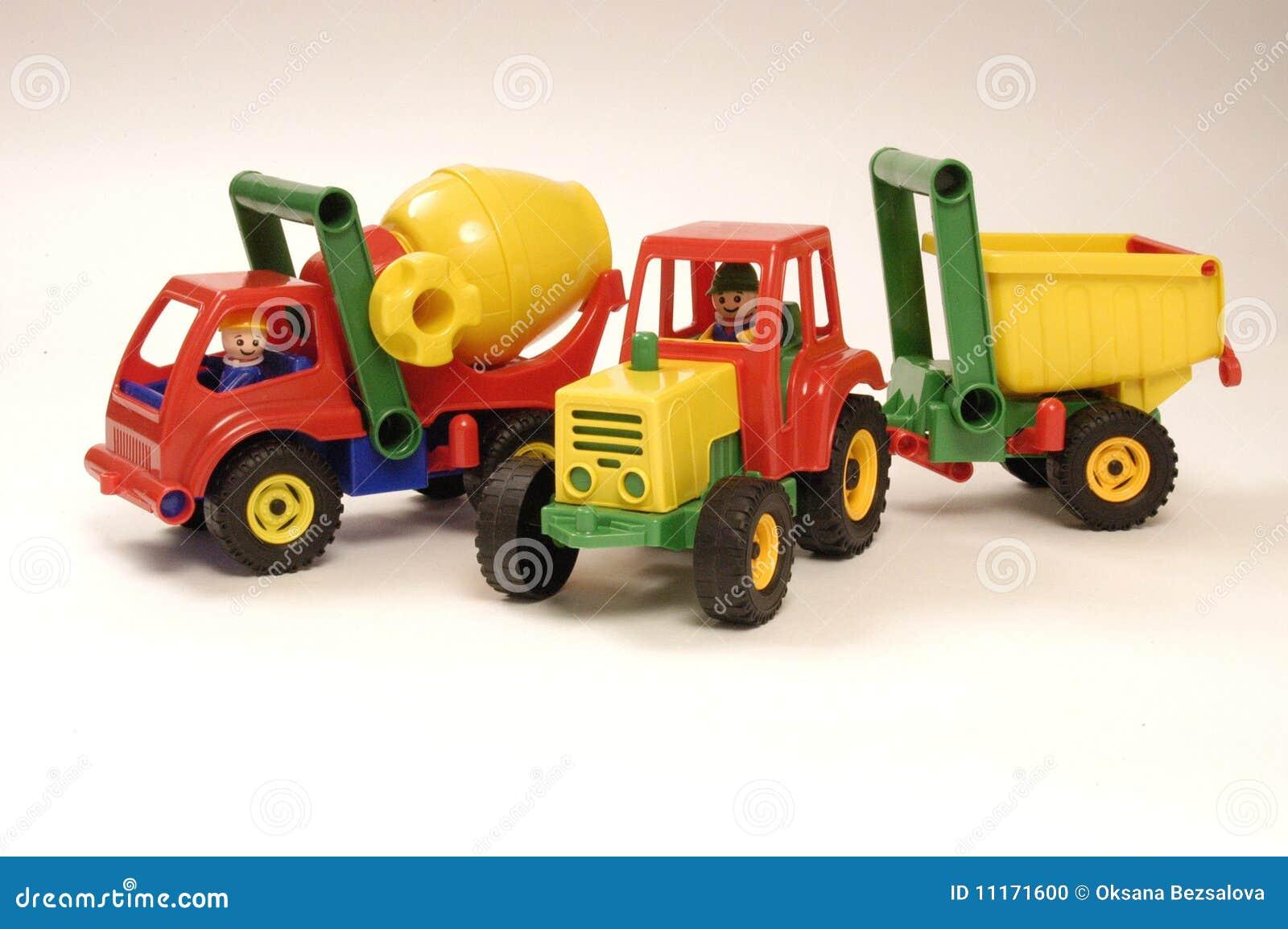 汽车玩具拖拉机