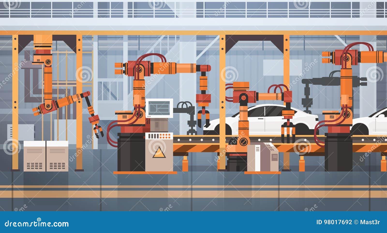 汽车生产传动机自动装配线机械工业自动化产业概念