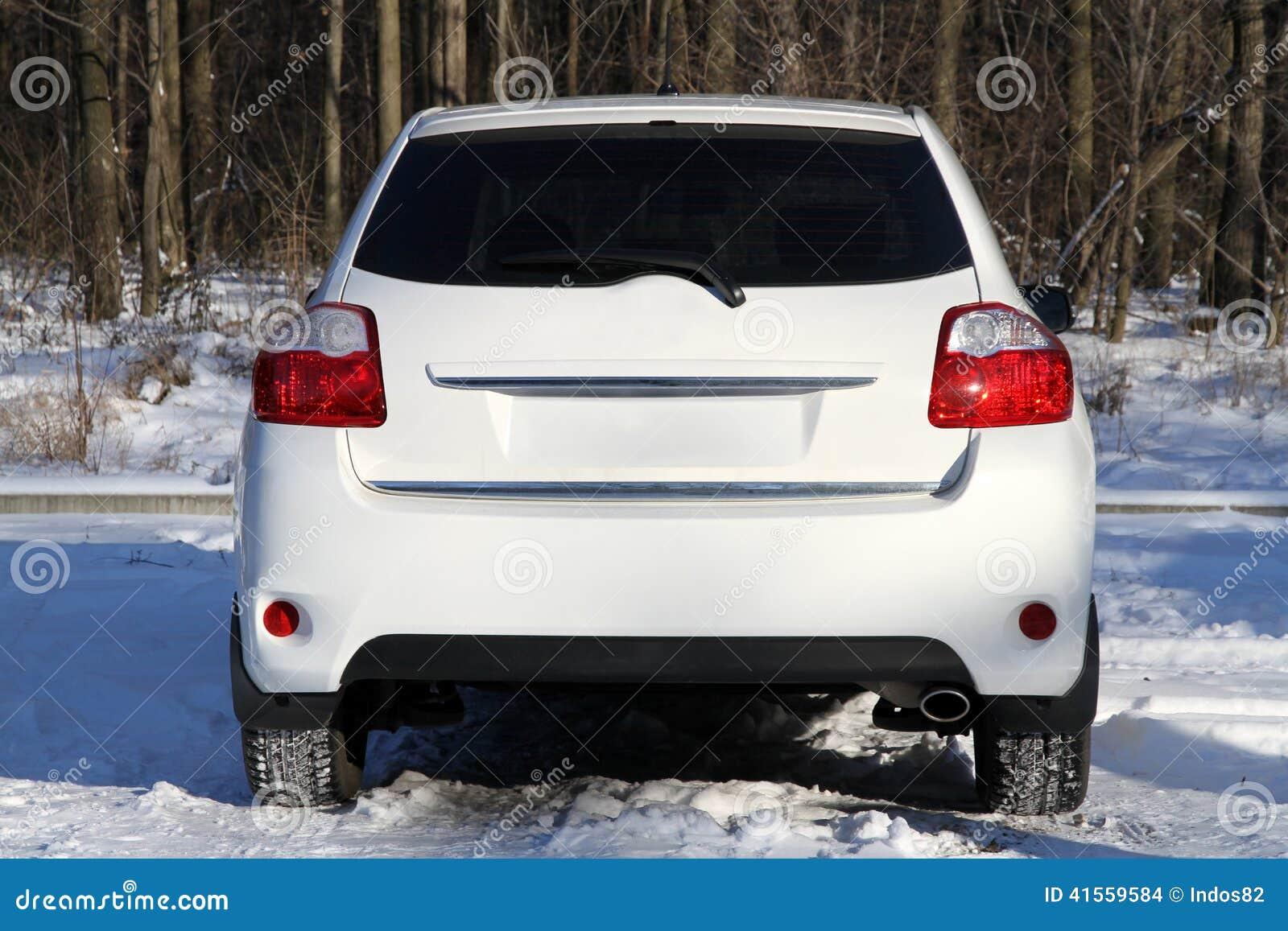 汽车背面图
