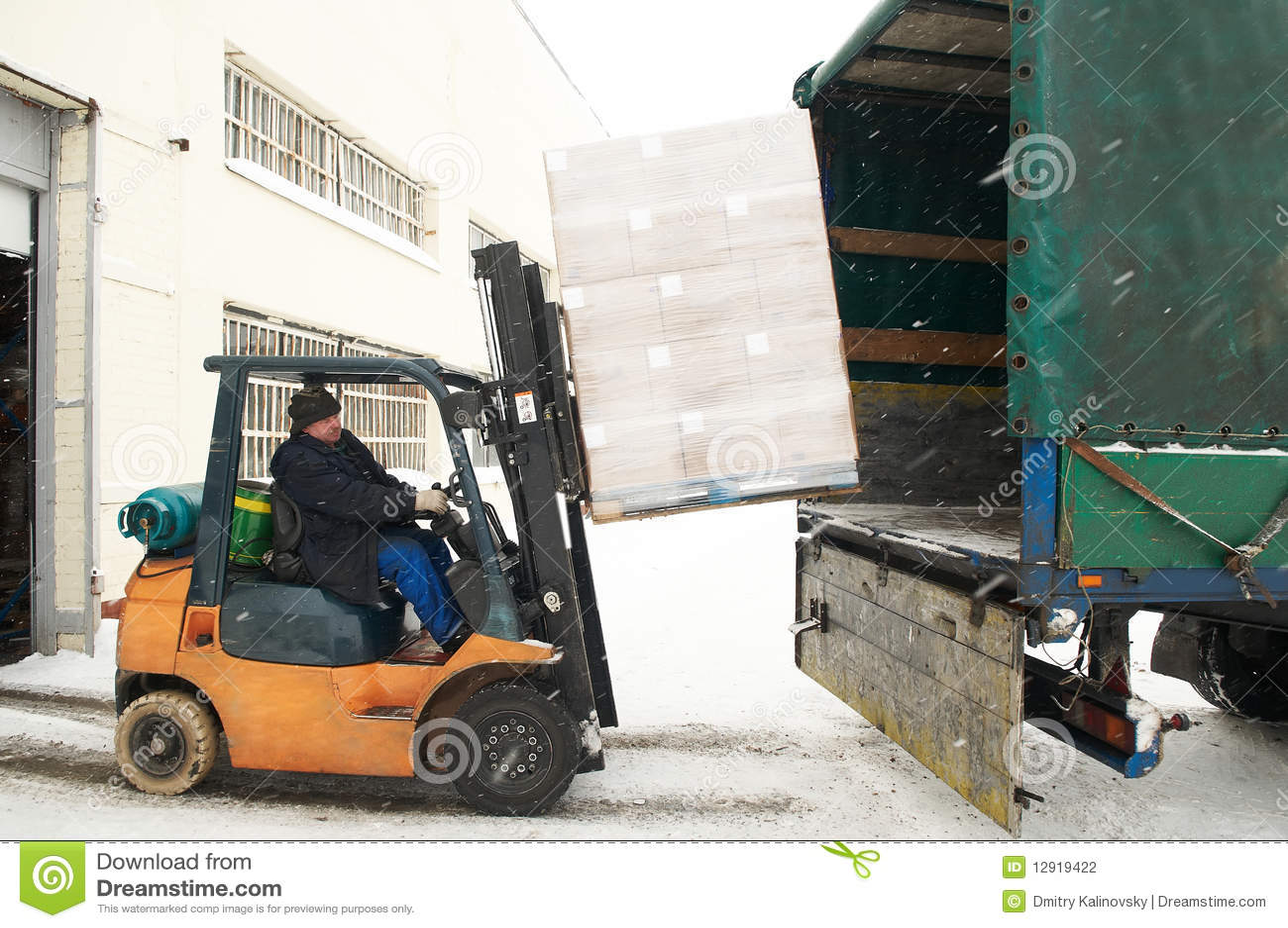 汽车铲车装载大商店