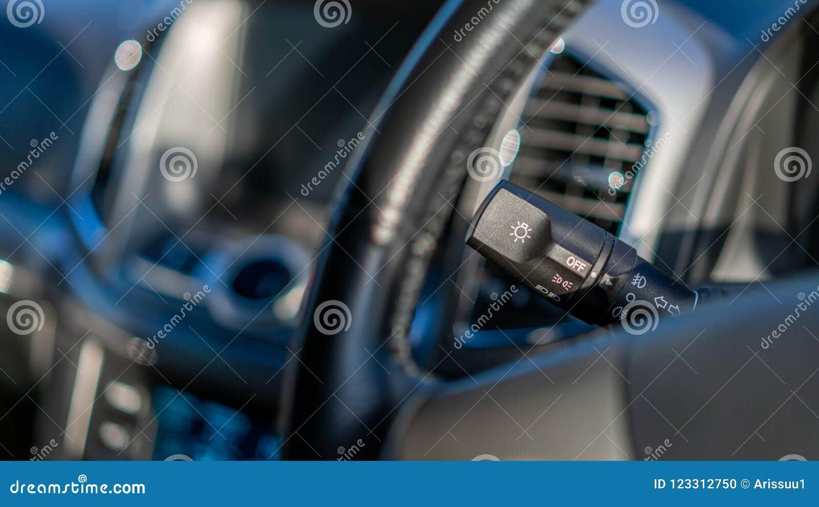 汽车风档刮水器控制茎
