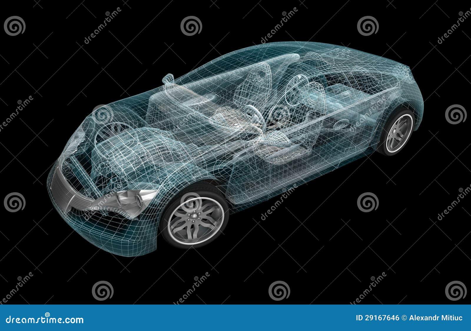 汽车wireframe。 我自己设计。
